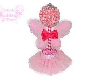 Pink Lollipop Fairy Princess Topiary, Fairy Centerpiece, Lollipop Centerpiece, Candy Centerpiece, Fairy, Baby Shower, Birthday, Centerpiece