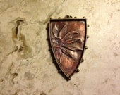 Embossed Copper Pendant-Daisy