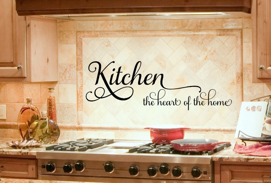 Kitchen Decor Kitchen Wall Decal Kitchen Decals Heart of