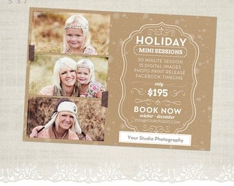 Holiday Mini Session Template for Photographers - MS22 - Oatmeal Spice