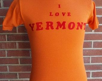 Vintage Orange Short Sleeve T-Shirt