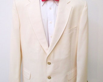 Ivory  Blazer,  Stafford Blazer Palm Beach,  Kentucky Derby Blazer, Resort Sport Coat, Wedding blazer, Cruise blazer, Off white blazer