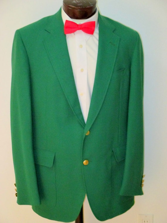 Green Blazer by DAKS Preppy Men's Green Sport Coat Kelly
