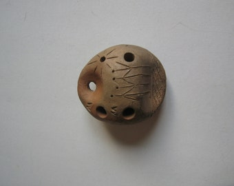 vintage hand made ocarina, Marcus Felsner, ceramic musical instrument