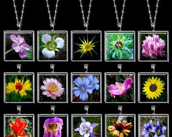Wildflower Jewelry - Wildflower Pendant - Wildflower Necklace - Flower Jewelry - Flower Pendant - Flower Necklace Handmade (WFJ1)