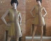 1960s Joseph Magnin leather mini dress | 60's Mod Go-Go London Twiggy | S to M | Cocoa Sweet