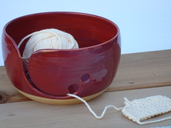 how to make a yarn bowl pottery