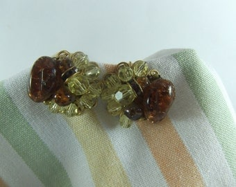 Topaz Brown Crystal Earrings