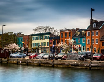 Colorful shops and buildings in Fells Point, Baltimore, Maryland - Urban Photography Fine Art Print or Wrapped Canvas