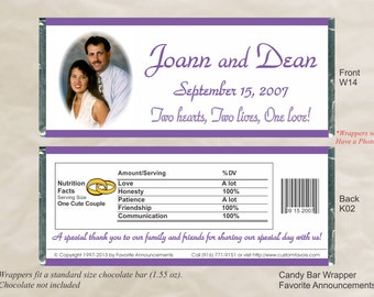 Wedding Favors,  Engagement Party Ideas, Rehearsal Dinner, do it yourself, chocolate bar wrapper, bridal shower, be my (Set of 12)(W14)