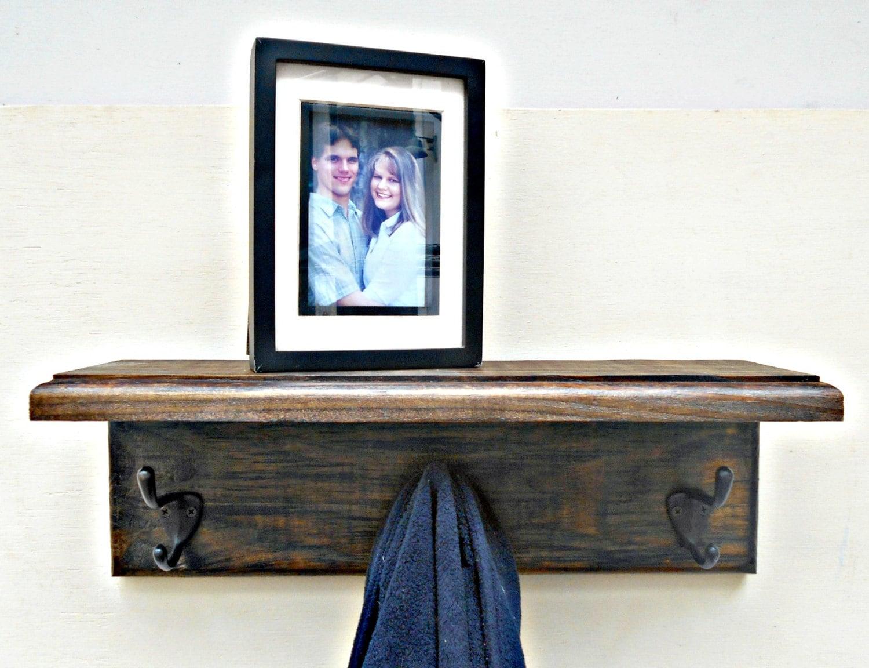 coat rack tag re murale porte manteau bois teint de. Black Bedroom Furniture Sets. Home Design Ideas