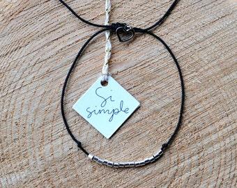 Silver beads bracelet handmade in Montreal