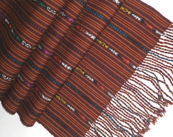 50% Off! Hand Loomed  Mayan Ikat Table Runner, Handwoven, Tribal Ethnic, Rustic Country Wedding