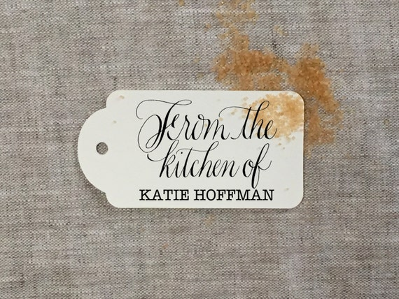 From The Kitchen Of Personalized Rubber Stamp By