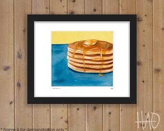 Pancake Print from Original Oil Painting, Breakfast Art