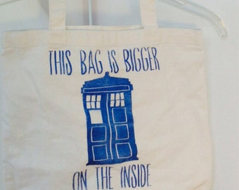 This Bag is Bigger on the Inside Doctor Who Police Box Tote Bag