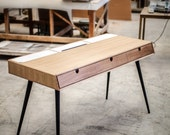 Desk in oak wood , Bureau , dressing table , office desk, Classic, Mid Century, Modern, Tantik