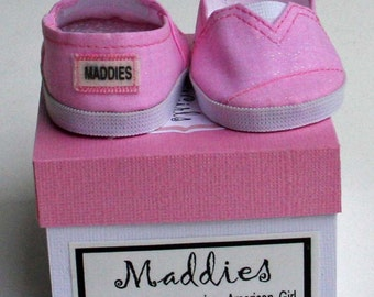 MADDIES - Toms Style Shoes for 18 inch Doll - Pink Sparkle