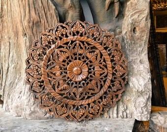 Bois sculpt art mural tenture murale d coration par for Decoration murale bois sculpte