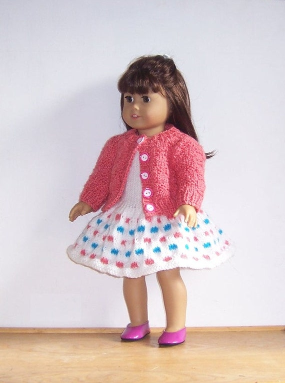 PDF dolls clothes knitting pattern for 18