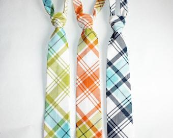 Boys Ties/Neck tie Toddler, Baby Boy, Boys plaid Kids neck tie