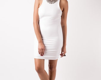 Bodycon latex mini dress