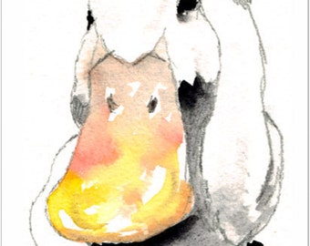 Aceo Print, Duck Portrait. From an Original Painting by LESLEY SILVER. Personally signed. LDU004AC