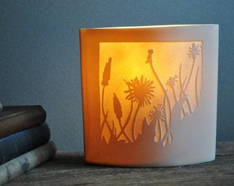 Dandelions Porcelain Lamp