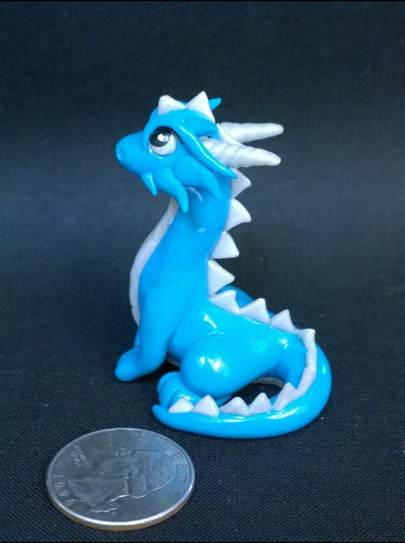 Blue and white dragon