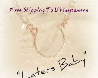 Laters Baby, Ana's Horseshoe Necklace, Fifty Shades of Grey Inspired Jewelry, Ana Steele Necklace, Dakota Johnson's Necklace, 50 Shades