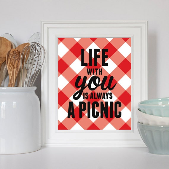 Items similar to retro kitchen decor red and white for Kitchen decor items