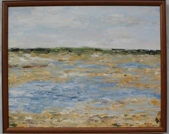 Shorebird Marsh- Palette Knife Oil Painting
