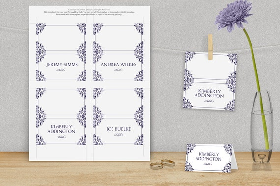 Wedding place card template download by diyweddingtemplates for Avery printable place cards