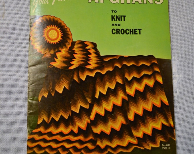 Vintage Bear Brand Crochet Afghan Instruction Booklet Magazine 1966 PanchosPorch