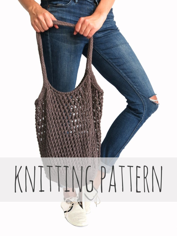 PATTERN for Knit Net Market Tote Shopping Grocery Bag Mesh