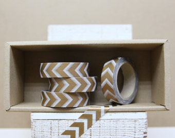 Washi Tape - metallic copper arrow chevron - M13