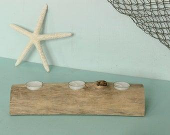 Driftwood Table Centerpiece, Driftwood Candle Holder, Tea Light Candle Holder, Beach Wedding Centerpiece