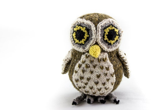 Disney Knitting Patterns Free : KNITTING PATTERN OwlPDF Soft Toy Knitting Pattern