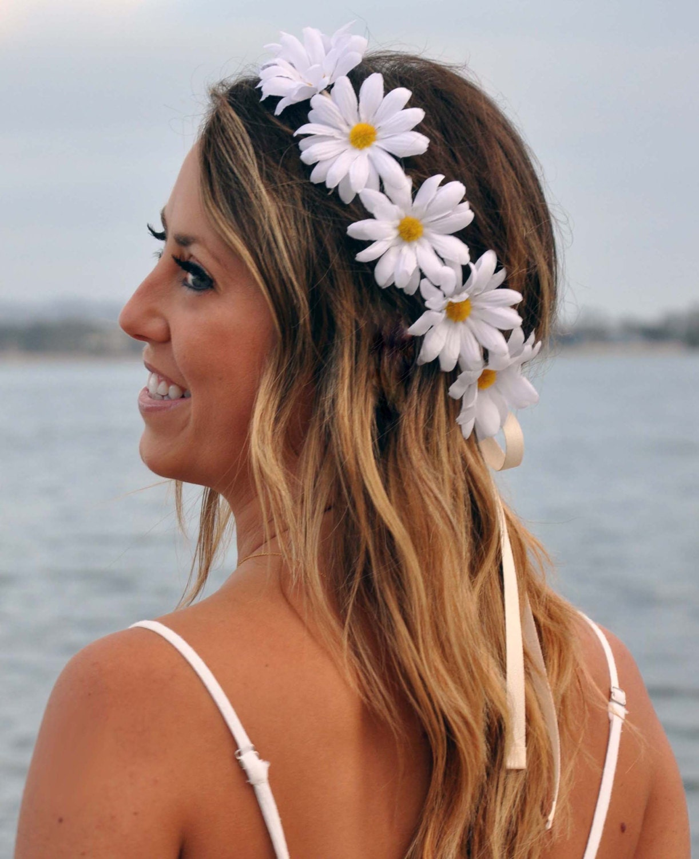 Edc Coachella Flower Headband By Manythingsmari On Etsy