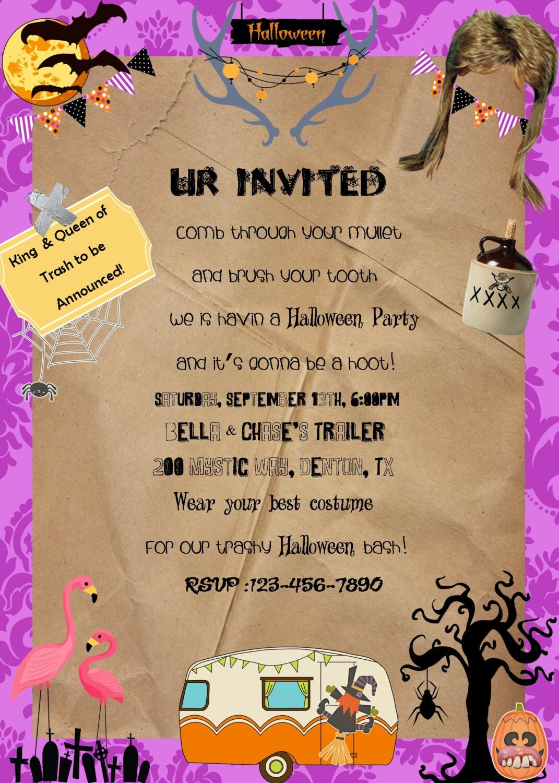 White Trash Party Invitations – Redneck Party Invitations