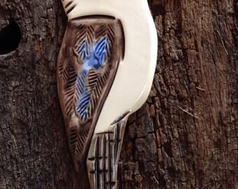 Handmade Ceramic Australian Laughing Kookaburra