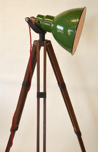 Vintage Tripod Lamp Unique Lighting Repurposed Lighting