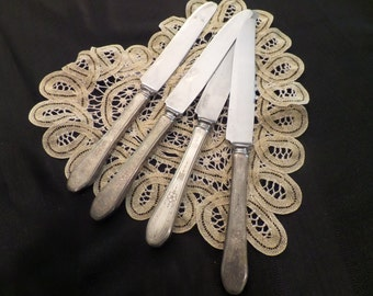 Vintage Silverplate Knives Set of 4
