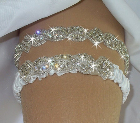 Regular or queen size wedding dress garter set by for Bride kitchen queen set