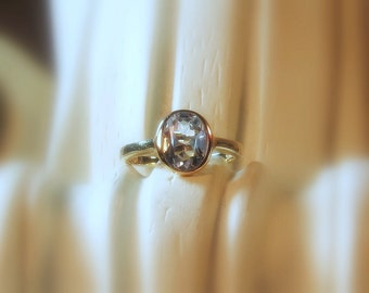 "25% OFF Moissanite Oval ""Forever One"" Gemstone 14K Gold Ring ~ Made to Order"
