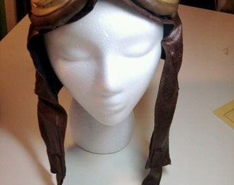 Steampunk Aviator Cap with Goggles