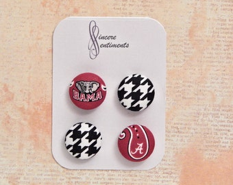 Alabama fabric button magnets