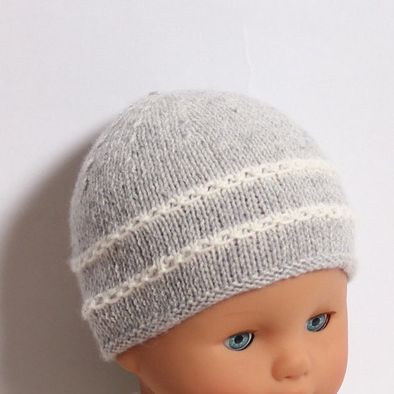 Baby Hat / Knitting Pattern Instructions in French PDF Instant Download 4 Sizes : Newborn / 3 / 6 and 12 months