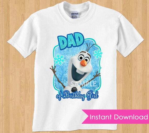 Frozen Tshirt Transfer INSTANT DOWNLOAD Dad DIY Printable