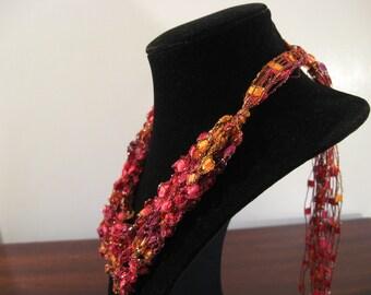 Trellis Necklace / Crochet Necklace Item No. M8